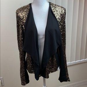 Gibson Latimer sequin cozy knit blazer jacket L/XL
